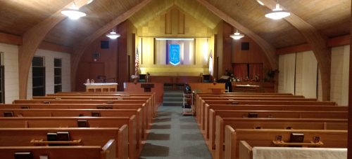 Inside our santuary at the Endicott, WA church